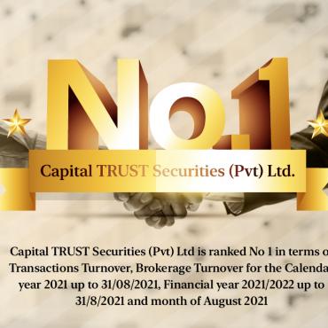 Capital TRUST Securities (Pvt) Ltd is Ranked No 1