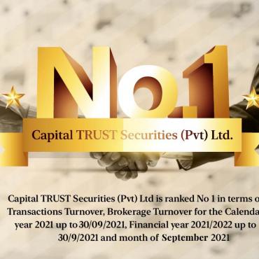 As per CSE data, Capital TRUST Securities (Pvt) Ltd is ranked No 1